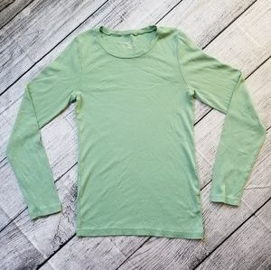 J Crew Light Green Perfect Fit Long Sleeve Tee